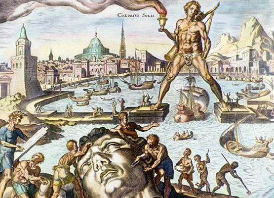 El Coloso de Rodas, sexta maravilla del mundo antiguo