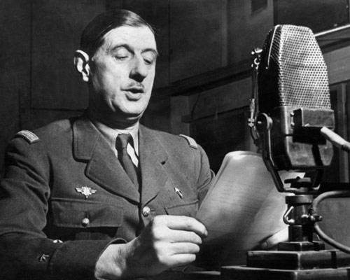 El General Charles De Gaulle convoca la Resistencia francesa