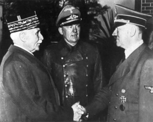 Petain y Hitler, la vergüenza francesa