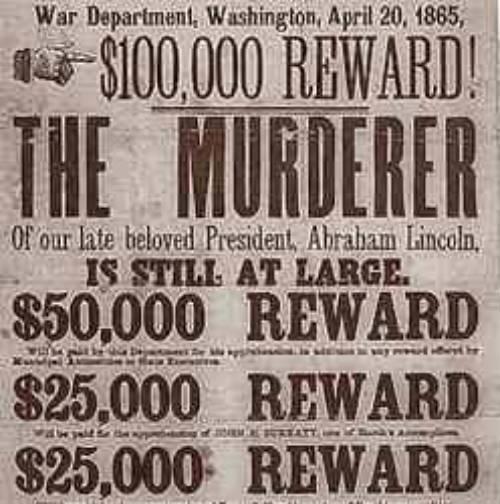 Recompensa por Wilkes Booth