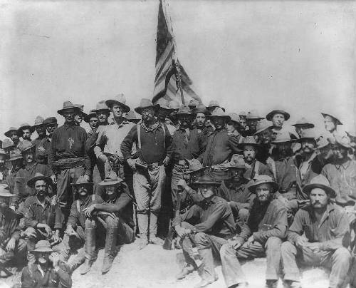Teddy Roosevelt y sus tropas en San Juan, Puerto Rico