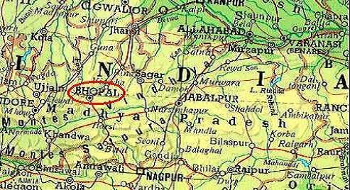 Mapa de India, Bhopal