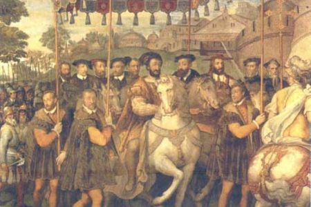 La Batalla de Pavía entre españoles y franceses