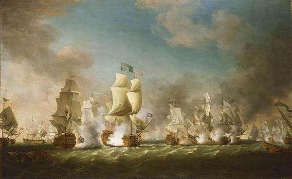 Batalla del Cabo Pessaro en la Guerra de la Cuádruple Alianza