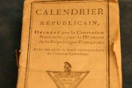 El calendario de la Revolución francesa