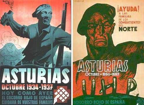 Carteles sobre la Revolución de Asturias de 1934