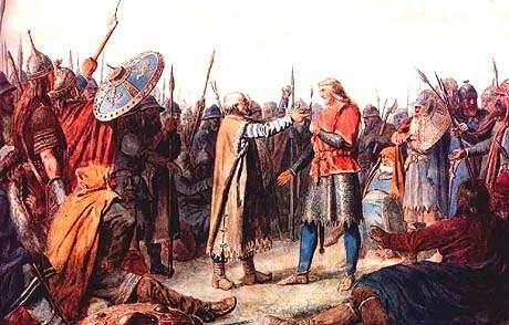Coronacion de Olaf I de Noruega