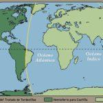 El Tratado de Tordesillas entre Portugal y Castilla