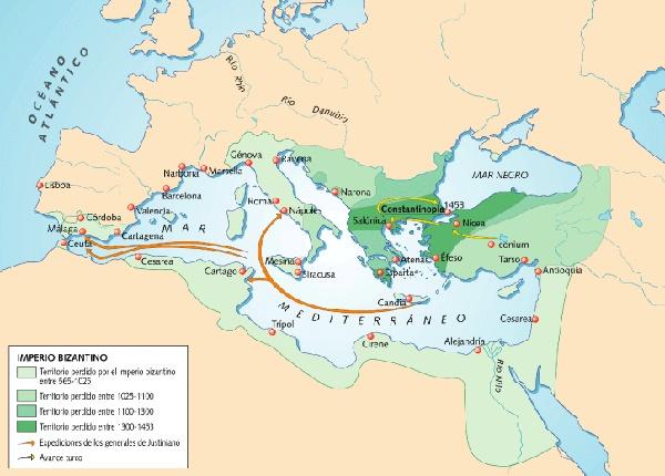 Expansion imperio bizantino con Justiniano