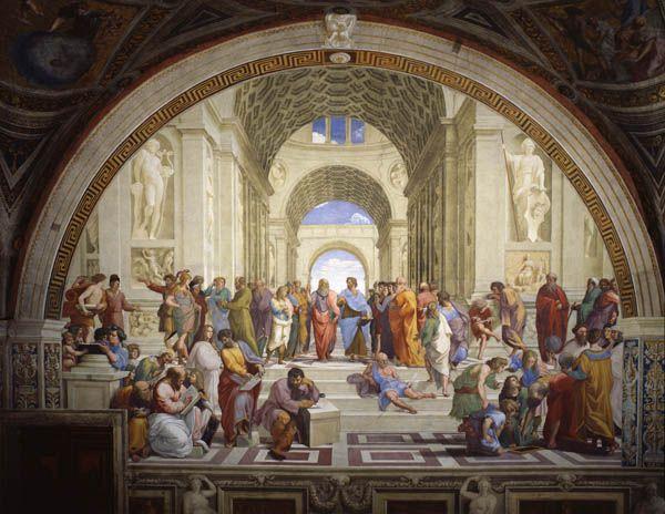 Escuela de Atenas, de Rafael