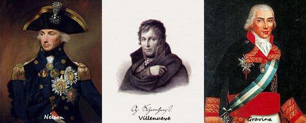 Protagonistas de la batalla de Trafalgar