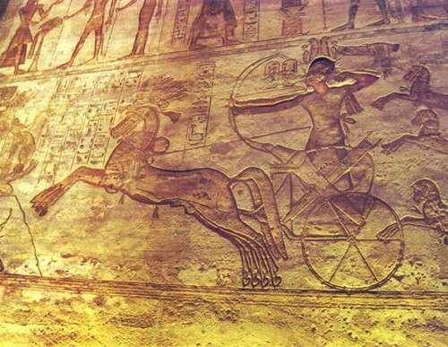 Ramsés luchando contra los hititas