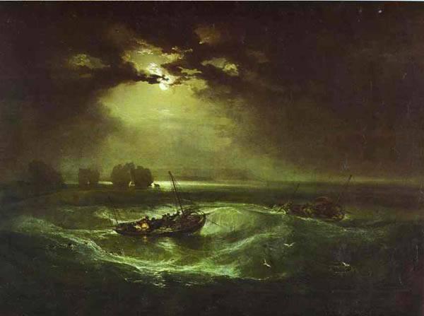 Pescadores en el mar, de William Turner