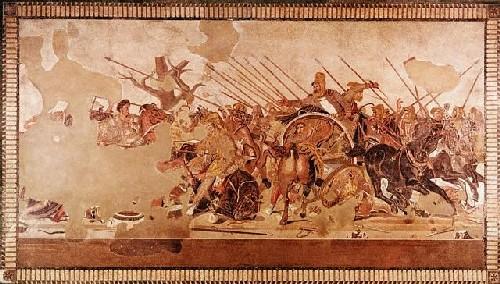 Alejandro Magno en Persepolis