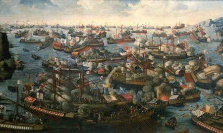 La Batalla de Lepanto en 1571