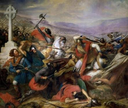 Batalla de Poitiers año 732