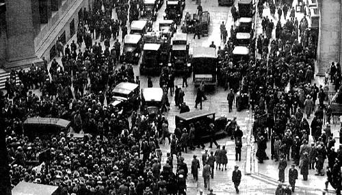 caos en Wall Street en 1929