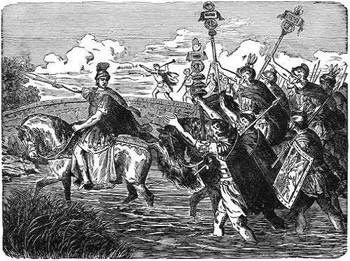 Cesar cruzando el Rubicon