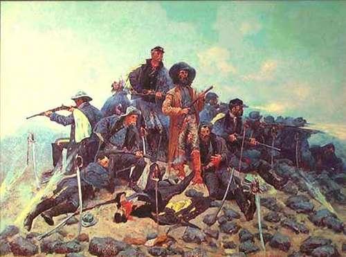 Custer y sus soldados