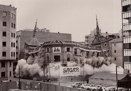 Derribo del edificio del diario Madrid