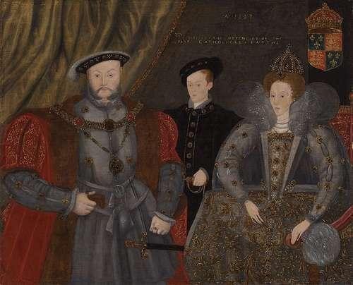 Enrique VIII, Eduardo VI e Isabel I