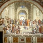 La Escuela de Atenas pintada por Rafael