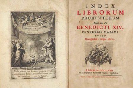 El Índice de libros prohibidos de la iglesia