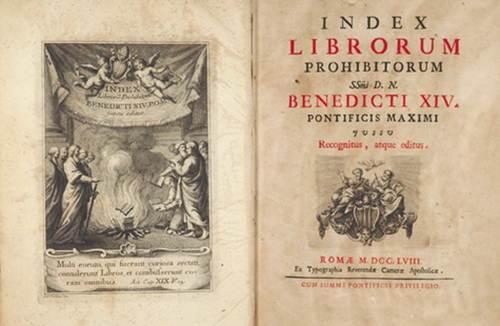 indice de libros prohibidos