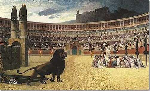 Resultado de imagen para coliseo romano muerte cristianos