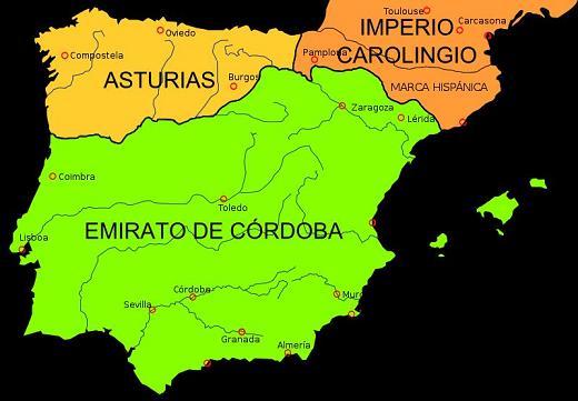 peninsula-iberica-en-el-ano-814